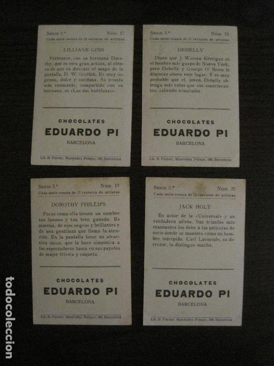 Coleccionismo Cromos antiguos: ARTISTAS DE CINE-COLECCION COMPLETA 21 CROMOS-CHOCOLATES EDUARDO PI-VER FOTOS-(V-16.021) - Foto 12 - 153693834