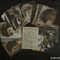 Coleccionismo Cromos antiguos: CINE-ARTISTAS DE CINE-COLECCION COMPLETA 19 CROMOS-CHOCOLATES JUNCOSA-VER FOTOS-(V-16.022). Lote 153694130