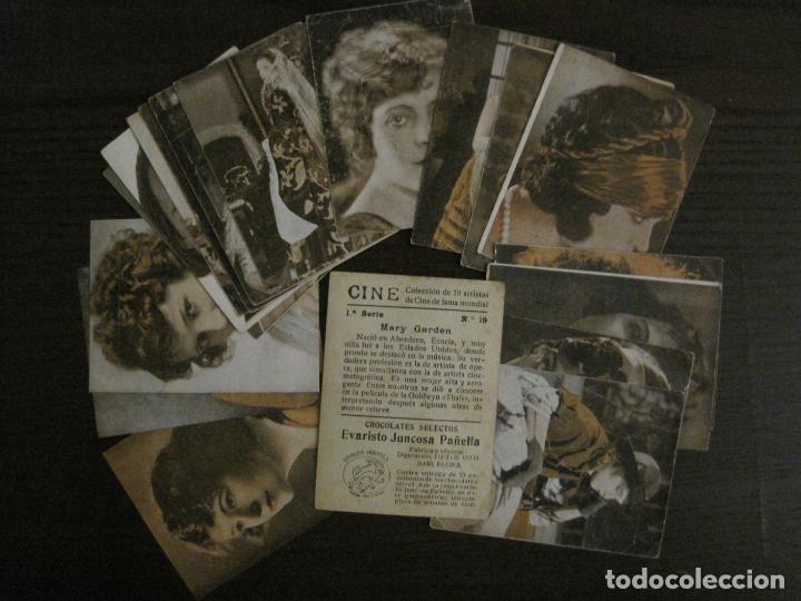 Coleccionismo Cromos antiguos: CINE-ARTISTAS DE CINE-COLECCION COMPLETA 19 CROMOS-CHOCOLATES JUNCOSA-VER FOTOS-(V-16.022) - Foto 2 - 153694130