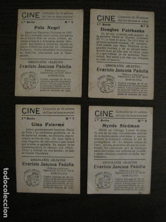 Coleccionismo Cromos antiguos: CINE-ARTISTAS DE CINE-COLECCION COMPLETA 19 CROMOS-CHOCOLATES JUNCOSA-VER FOTOS-(V-16.022) - Foto 6 - 153694130