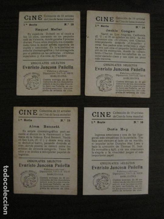 Coleccionismo Cromos antiguos: CINE-ARTISTAS DE CINE-COLECCION COMPLETA 19 CROMOS-CHOCOLATES JUNCOSA-VER FOTOS-(V-16.022) - Foto 10 - 153694130