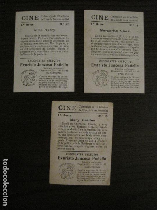 Coleccionismo Cromos antiguos: CINE-ARTISTAS DE CINE-COLECCION COMPLETA 19 CROMOS-CHOCOLATES JUNCOSA-VER FOTOS-(V-16.022) - Foto 12 - 153694130