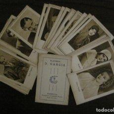 Coleccionismo Cromos antiguos: ARTISTAS EMINENTES CINEMATOGRAFICAS-32 CROMOS COMPLETA-PLATERIA GARCIA-VER FOTOS-(V-16.029). Lote 153699662