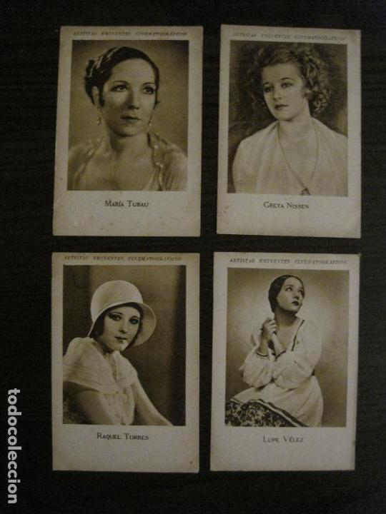 Coleccionismo Cromos antiguos: ARTISTAS EMINENTES CINEMATOGRAFICAS-32 CROMOS COMPLETA-PLATERIA GARCIA-VER FOTOS-(V-16.029) - Foto 3 - 153699662