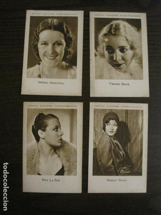 Coleccionismo Cromos antiguos: ARTISTAS EMINENTES CINEMATOGRAFICAS-32 CROMOS COMPLETA-PLATERIA GARCIA-VER FOTOS-(V-16.029) - Foto 5 - 153699662