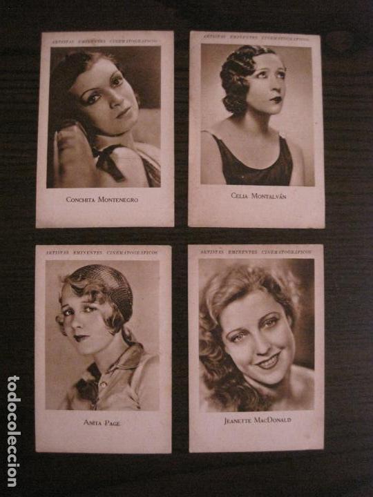 Coleccionismo Cromos antiguos: ARTISTAS EMINENTES CINEMATOGRAFICAS-32 CROMOS COMPLETA-PLATERIA GARCIA-VER FOTOS-(V-16.029) - Foto 7 - 153699662