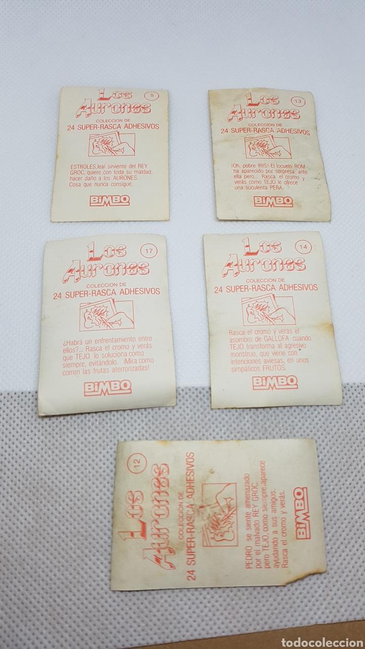 Coleccionismo Cromos antiguos: 5 CROMOS AURONES DE BIMBO - Foto 2 - 153981021