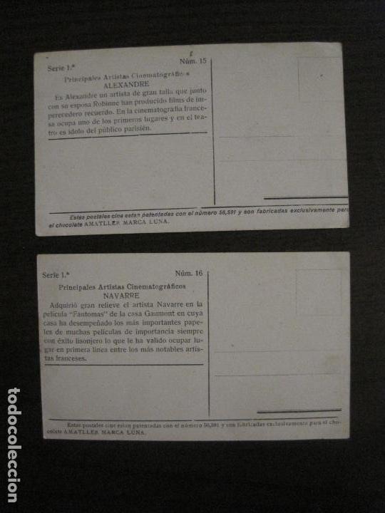 Coleccionismo Cromos antiguos: PRINCIPALES ARTISTAS CINEMATOGRAFICAS-COL· COMPLETA 36 CROMOS-CHOCOLATE AMATLLER-VER FOTOS(V-16.043) - Foto 18 - 154013066