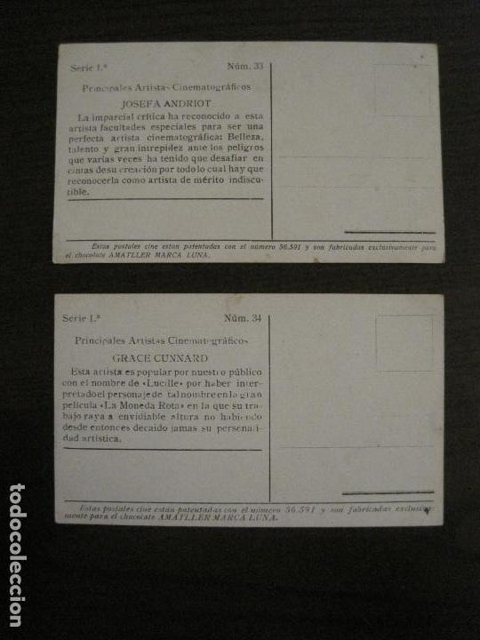 Coleccionismo Cromos antiguos: PRINCIPALES ARTISTAS CINEMATOGRAFICAS-COL· COMPLETA 36 CROMOS-CHOCOLATE AMATLLER-VER FOTOS(V-16.043) - Foto 36 - 154013066