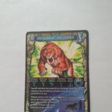 Coleccionismo Cromos antiguos: CROMO CARTA DINOSAURIOS PREDATORS BATALLA DEL VOLCÁN, DIGITCARDS TRADING CARDS: SMILODON (Nº 8). Lote 213598060