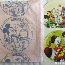Coleccionismo Cromos antiguos: MICKEY MOUSE SOBRE SIN ABRIR CROMOS AÑOS 80. Lote 197917743