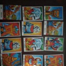 Coleccionismo Cromos antiguos: LOCOS EXTRATERRESTRES. LOTE 13 CROMOS NUEVOS. Lote 155400566