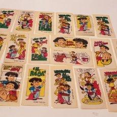 Coleccionismo Cromos antiguos: LOTE 20 CROMOS DE CHICLE DEL DUO SACAPUNTA AÑO 1987. Lote 155425806