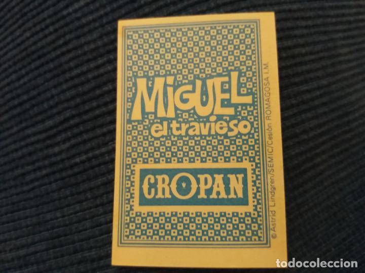 Coleccionismo Cromos antiguos: CROPAN MIGUEL EL TRAVIESO NÚMERO 13 A - Foto 2 - 155484126