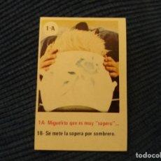 Coleccionismo Cromos antiguos: CROPAN MIGUEL EL TRAVIESO NÚMERO 1 A. Lote 155484234