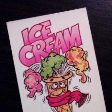 Coleccionismo Cromos antiguos: CROMOS ¡APRENDE INGLES CON BIMBO! Nº 7 - ICE CREAM - (1987) - SIN PEGAR, ADHESIVO, CON TRASERA -. Lote 155700578