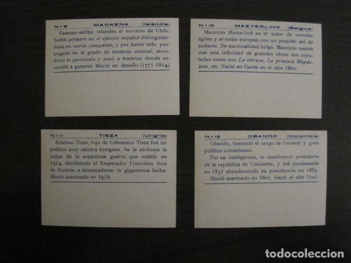 Coleccionismo Cromos antiguos: BANDERAS Y HOMBRES CELEBRES-COLECCION COMPLETA 50 CROMOS-REPUBLICA-VER FOTOS-(V-16.147) - Foto 7 - 155821534