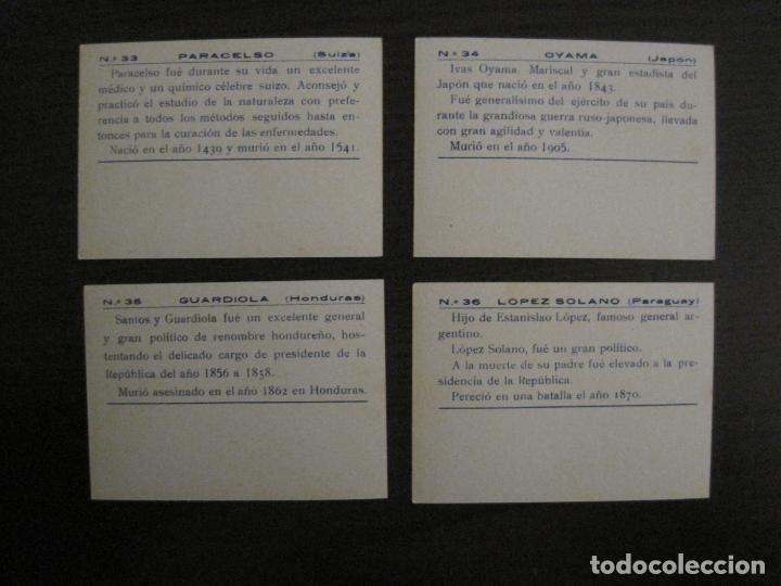 Coleccionismo Cromos antiguos: BANDERAS Y HOMBRES CELEBRES-COLECCION COMPLETA 50 CROMOS-REPUBLICA-VER FOTOS-(V-16.147) - Foto 19 - 155821534