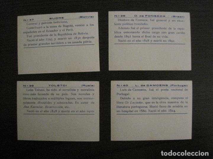 Coleccionismo Cromos antiguos: BANDERAS Y HOMBRES CELEBRES-COLECCION COMPLETA 50 CROMOS-REPUBLICA-VER FOTOS-(V-16.147) - Foto 21 - 155821534