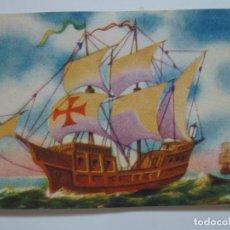 Coleccionismo Cromos antiguos: 118. CARABELA. AVIÓN RUSO DE CAZA. HISTORIA DEL TRANSPORTE A TRAVÉS DE LOS SIGLOS. FHER. . Lote 156176958