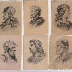 Coleccionismo Cromos antiguos: CONJUNTO DE 69 CROMOS DE MONARCAS ESPAÑOLES. CHOCOLATES JOSÉ LÓPEZ MURIAS, ASTORGA.. Lote 158164814