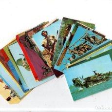 Coleccionismo Cromos antiguos: HISTORIA DE LAS ARMAS. LOTE DE 47 CROMOS. ESTE. 1970. DIFERENTES. NUEVO BUEN ESTADO. VER FOTOS.. Lote 158359654