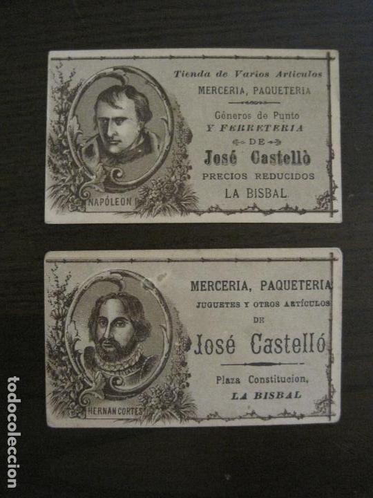 Coleccionismo Cromos antiguos: PERSONAJES CELEBRES-COLECCION 12 CROMOS-LA BISBAL-PUBLICIDAD JOSE CASTELLO-VER FOTOS(V-16.253) - Foto 5 - 158424606