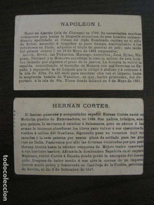 Coleccionismo Cromos antiguos: PERSONAJES CELEBRES-COLECCION 12 CROMOS-LA BISBAL-PUBLICIDAD JOSE CASTELLO-VER FOTOS(V-16.253) - Foto 6 - 158424606