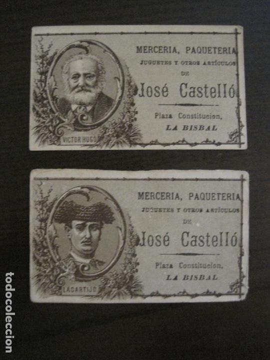 Coleccionismo Cromos antiguos: PERSONAJES CELEBRES-COLECCION 12 CROMOS-LA BISBAL-PUBLICIDAD JOSE CASTELLO-VER FOTOS(V-16.253) - Foto 7 - 158424606