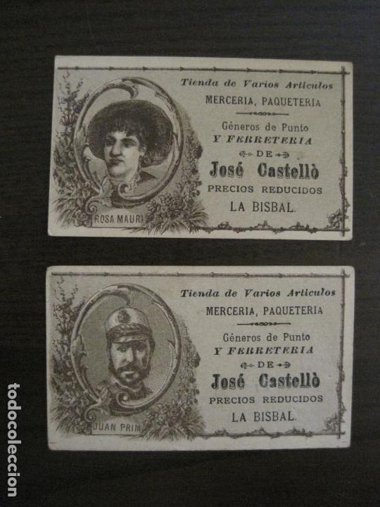 Coleccionismo Cromos antiguos: PERSONAJES CELEBRES-COLECCION 12 CROMOS-LA BISBAL-PUBLICIDAD JOSE CASTELLO-VER FOTOS(V-16.253) - Foto 11 - 158424606