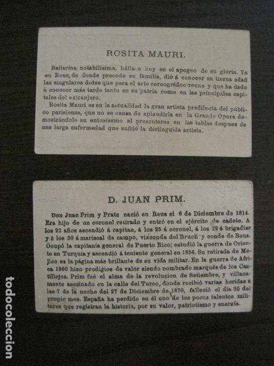 Coleccionismo Cromos antiguos: PERSONAJES CELEBRES-COLECCION 12 CROMOS-LA BISBAL-PUBLICIDAD JOSE CASTELLO-VER FOTOS(V-16.253) - Foto 12 - 158424606