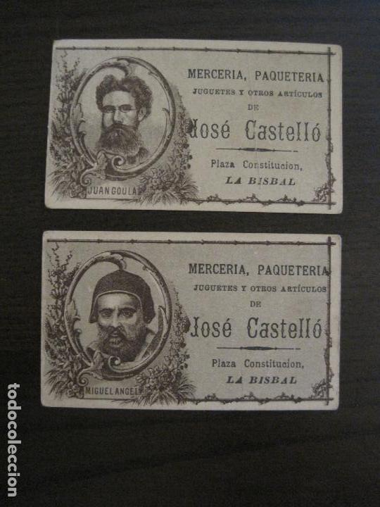 Coleccionismo Cromos antiguos: PERSONAJES CELEBRES-COLECCION 12 CROMOS-LA BISBAL-PUBLICIDAD JOSE CASTELLO-VER FOTOS(V-16.253) - Foto 13 - 158424606