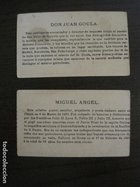 Coleccionismo Cromos antiguos: PERSONAJES CELEBRES-COLECCION 12 CROMOS-LA BISBAL-PUBLICIDAD JOSE CASTELLO-VER FOTOS(V-16.253) - Foto 14 - 158424606