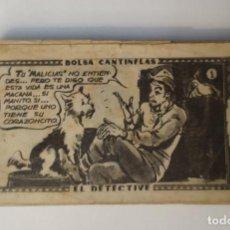 Coleccionismo Cromos antiguos: CROMO - BOLSA CANTINFLAS, EL DETECTIVE (COLECCION COMPLETA) (SENDA 1946). Lote 158518230