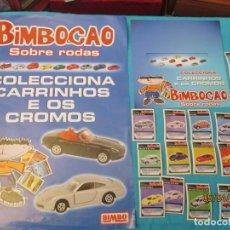 Coleccionismo Cromos antiguos: BIMBOCAO SOBRE RODAS PROMOCIONAL CARTEL Y CROMOS. Lote 158654886