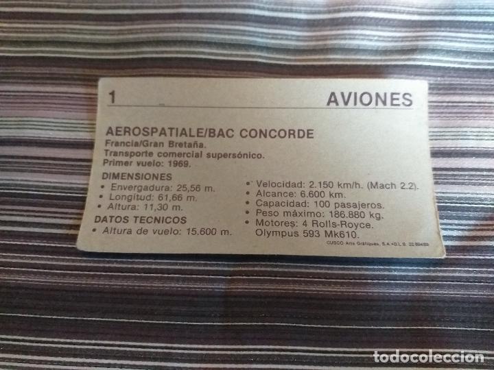 Coleccionismo Cromos antiguos: CROMO AVIONES CUSCO 1989 Nº 1 - Foto 2 - 160059994