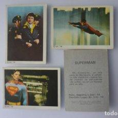 Coleccionismo Cromos antiguos: LOTE 100 CROMOS SUPERMAN FHER 1978, SE VENDEN SUELTOS A 1 EURO UNIDAD. NUNCA PEGADOS. Lote 160159654
