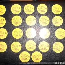 Coleccionismo Cromos antiguos: LOTE DE 22 TAZOS STREET FIGHTER II KEN CHICLE CHICLES VIDAL CAPCOM. Lote 160487518