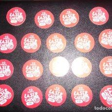 Coleccionismo Cromos antiguos: LOTE 19 TAZOS AÑOS 90 COLECCIÓN LASER CAPS. Lote 160488066