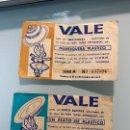 Coleccionismo Cromos antiguos: LOTE DE 2 VALE PARA CANJEAR POR UNA MANTEQUERA - AÑOS 60 - 1961 - VIKER - VALENCIA. Lote 160574010