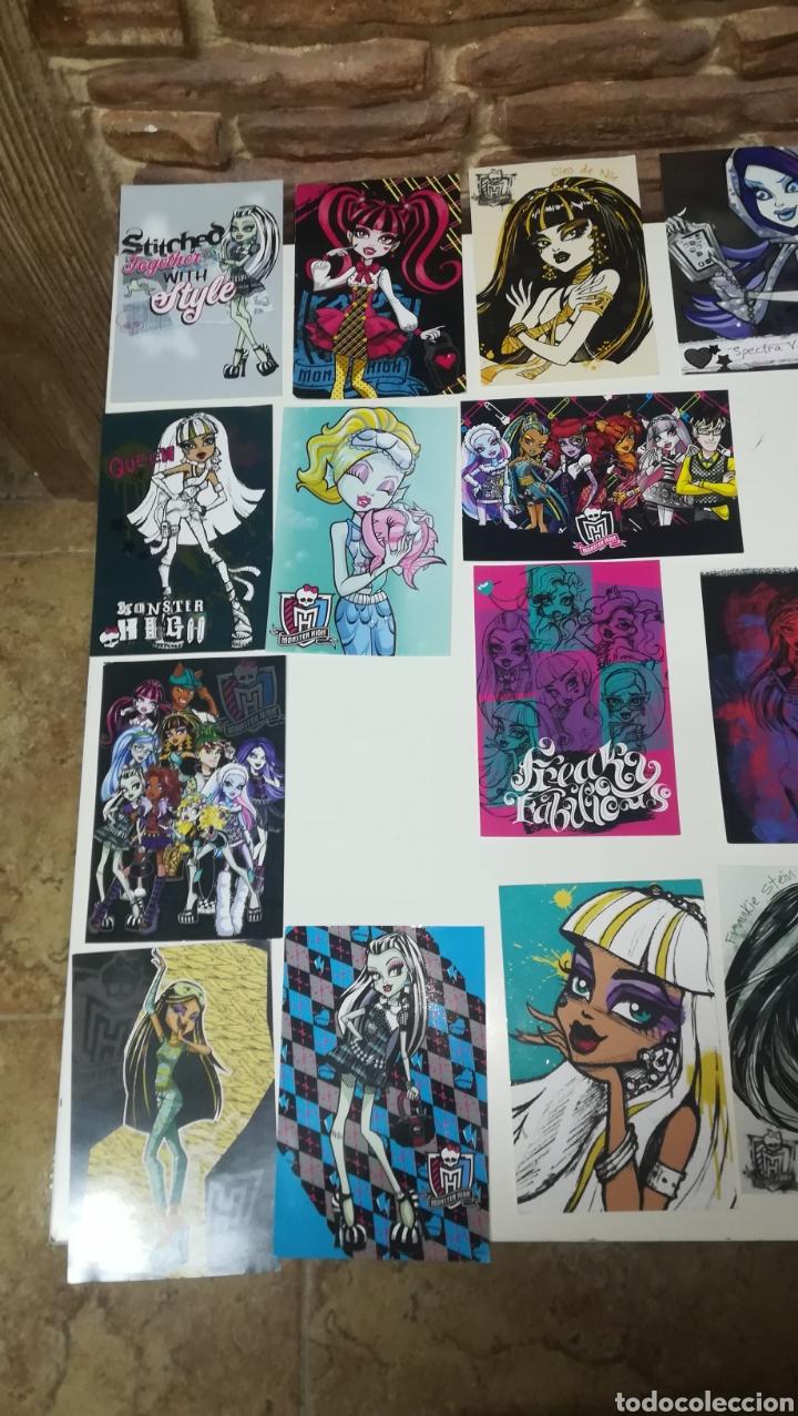 Coleccionismo Cromos antiguos: Lote de 17 cromos postales Monster High Panini 10 cm x 15 cm - Foto 2 - 160637072