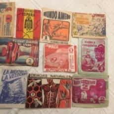 Coleccionismo Cromos antiguos: SOBRES DE CROMOS ANTIGUOS SIN ABRIR. Lote 160743805
