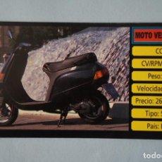 Coleccionismo Cromos antiguos: CROMO DE MOTOS MOTO VESPA SIN PEGAR Nº 137 AÑO 1983 DEL ALBUM MOTOCICLISMO DE CUSCO. Lote 160858826