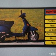 Coleccionismo Cromos antiguos: CROMO DE MOTOS MOTO VESPA SIN PEGAR Nº 138 AÑO 1983 DEL ALBUM MOTOCICLISMO DE CUSCO. Lote 160858878