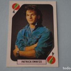 Coleccionismo Cromos antiguos - CROMO DE PATRICK SWAYZE SIN PEGAR AÑO 1988 DEL ALBUM TELE BANCO POP STARS DE ESTE - 160982198
