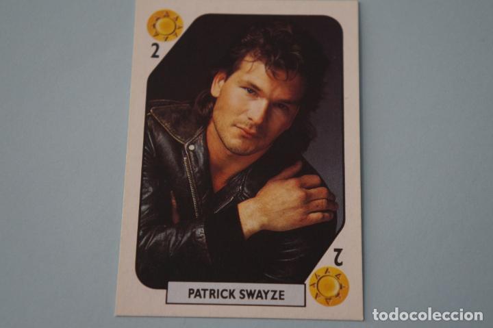 CROMO DE PATRICK SWAYZE SIN PEGAR AÑO 1988 DEL ALBUM TELE BANCO POP STARS DE ESTE (Coleccionismo - Cromos y Álbumes - Cromos Antiguos)
