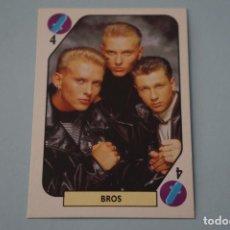 Coleccionismo Cromos antiguos - CROMO DE BROS SIN PEGAR AÑO 1988 DEL ALBUM TELE BANCO POP STARS DE ESTE - 160988782