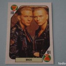 Coleccionismo Cromos antiguos - CROMO DE BROS SIN PEGAR AÑO 1988 DEL ALBUM TELE BANCO POP STARS DE ESTE - 160990286