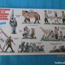 Coleccionismo Cromos antiguos: SOLDADOS DE LA SEGUNDA GUERRA MUNDIAL PHOSKITOS . Lote 161733830
