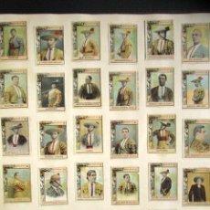 Coleccionismo Cromos antiguos: COLECCIÓN DE 1888 FOTOTIPIAS DIFERENTES. CAJA DE CERILLAS. TOREROS, GOYA, CERVANTES, CINE, MUJERES... Lote 162762926